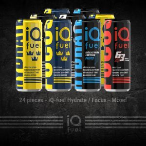 24 pieces - iQ-fuel Hydrate / Focus - Mixed